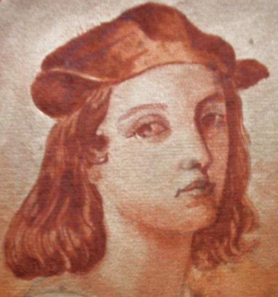 Raphael Sanzio 1483 1520 Dessin Autoportrait De Raphael