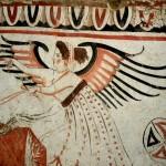 paestum-cavaliere-avec son char et ses chevaux detail