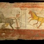 paestum-musee-fresque-trouver sur le site deux cavaliers