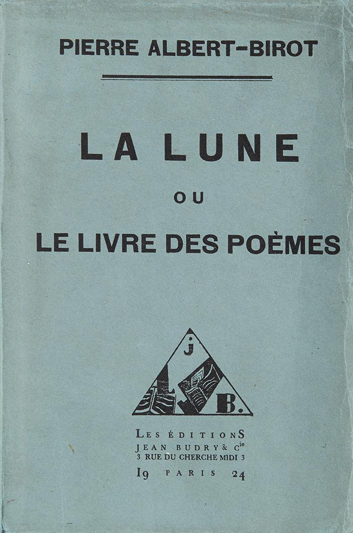 albert-birot-pierre-la-lune-ou-le-livre-des-poemes-paris-jean-budry-1924-195-x-130-br-edition-originale-limitee-a-326-exemplaires-numerotes-un-des-300-exemplaires-n271-sur-verge-pur-fil-lafuma-superbe-typographie-lun-des--2