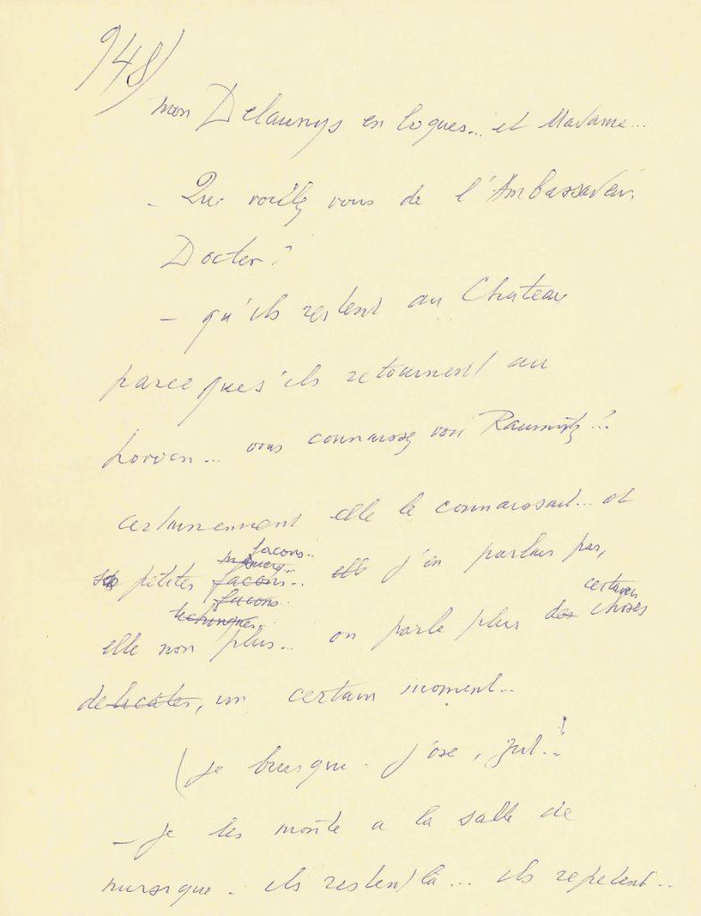 louis ferdinand c line manuscrit autographe d un fragment. Black Bedroom Furniture Sets. Home Design Ideas