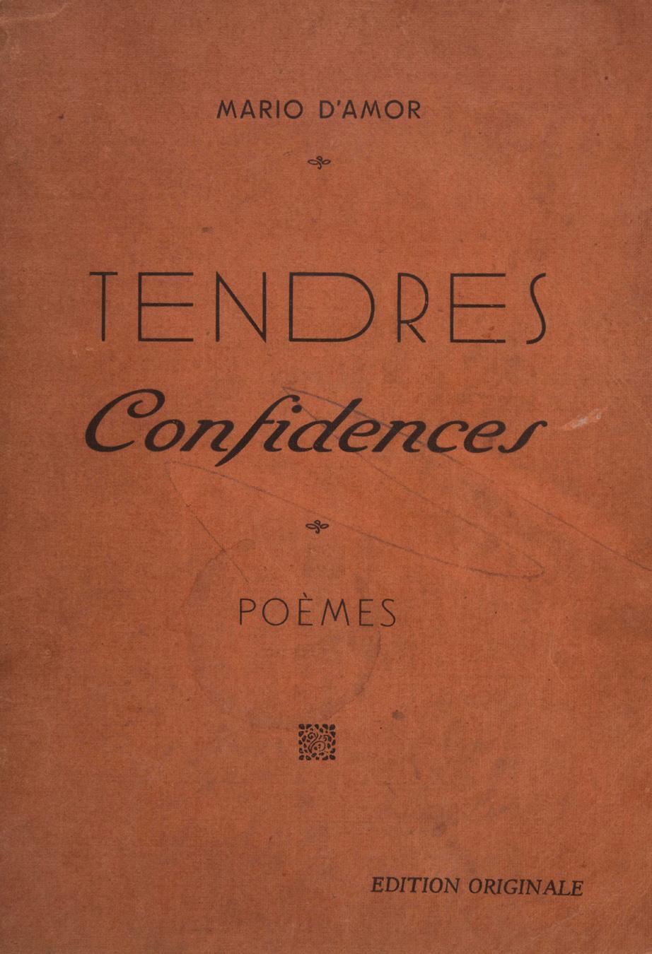Amor mario d tendres confidences marseille soci t du petit marseilla - 5 rue vincent courdouan 13006 marseille ...