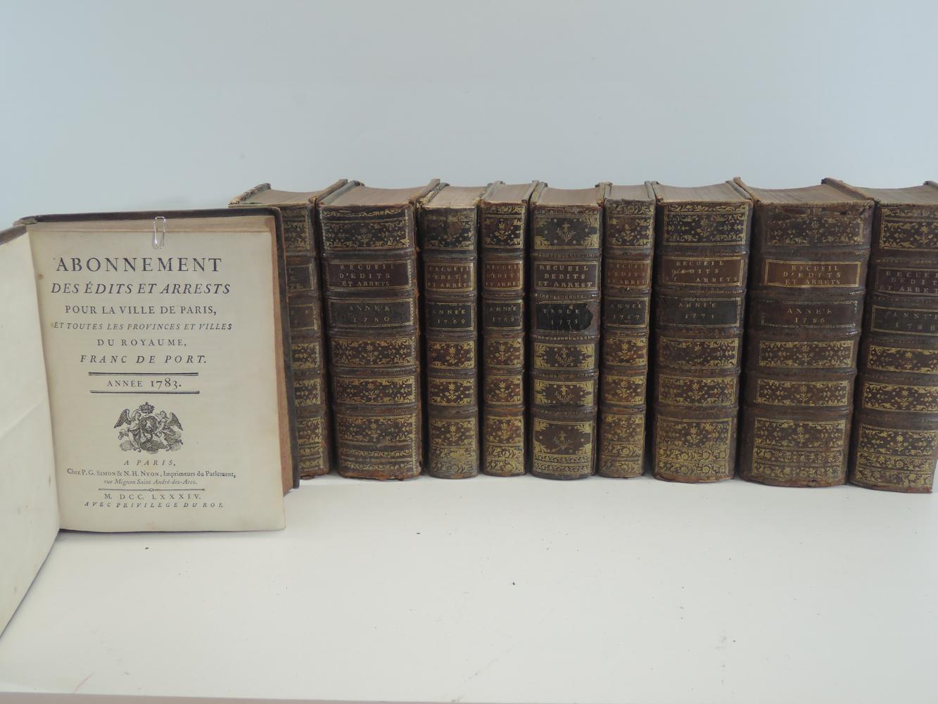 recueils-des-edits-et-arrests-pour-la-ville-de-paris-et-province-du-royaume-1767-1768-1769-1771-1773-1779-1780-1783-1786-1788-paris-simon-imprimeur-du-parlement-1967--181