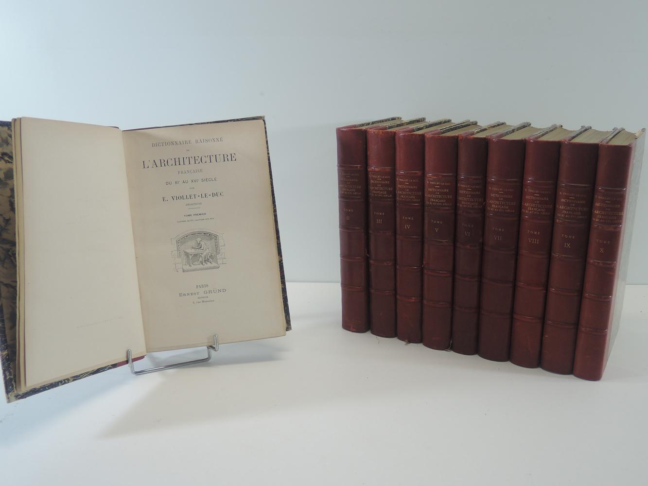 Viollet le duc dictionnaire de l architecture francaise for Architecture dictionnaire