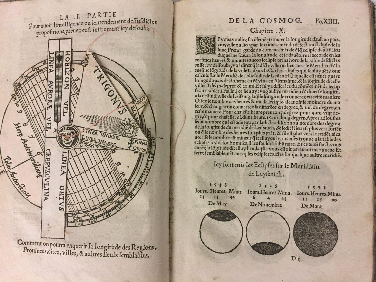 astronomie apian la cosmographie livre tr s utile traictant de toutes les regions et pays. Black Bedroom Furniture Sets. Home Design Ideas