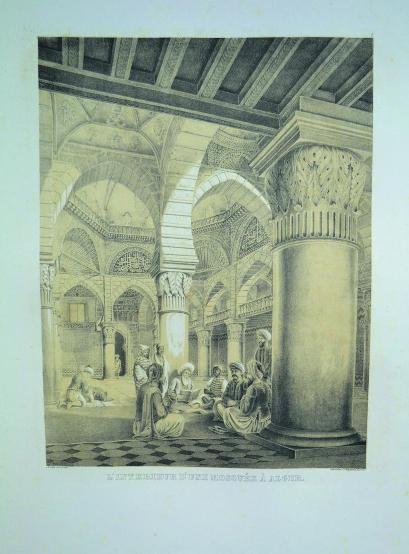 otth-adolph-esquisses-africaines-dessinees-pendant-un-voyage-a-alger-et-lithographiees-berne-j-f-wagner-1838-1839-in-folio-de-1-titre-lithographie-en-2-tons-7-ff-d-explication-et-30-planches-egalement-en-2-tons-en-feuilles-sous--133-1