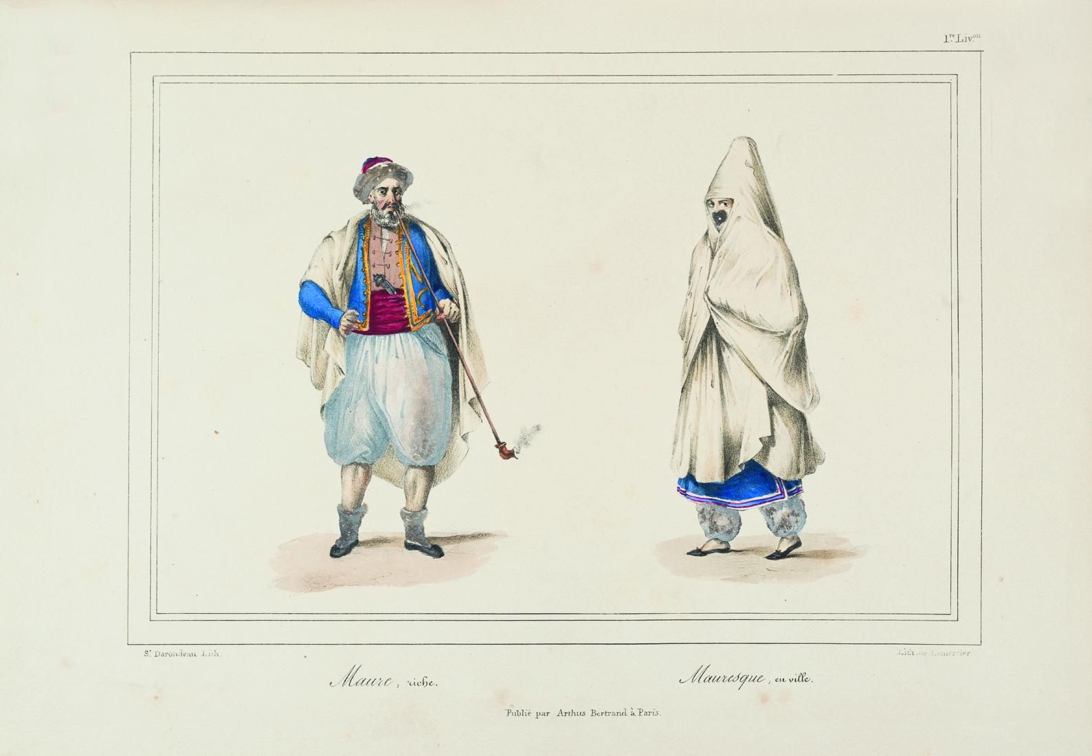 rousset-camille-la-conquete-d-alger-paris-plon-1880-un-volume-in-12-demi-veau-blond-glace-dos-a-nerfs-richement-orne-a-la-grotesque--96-1