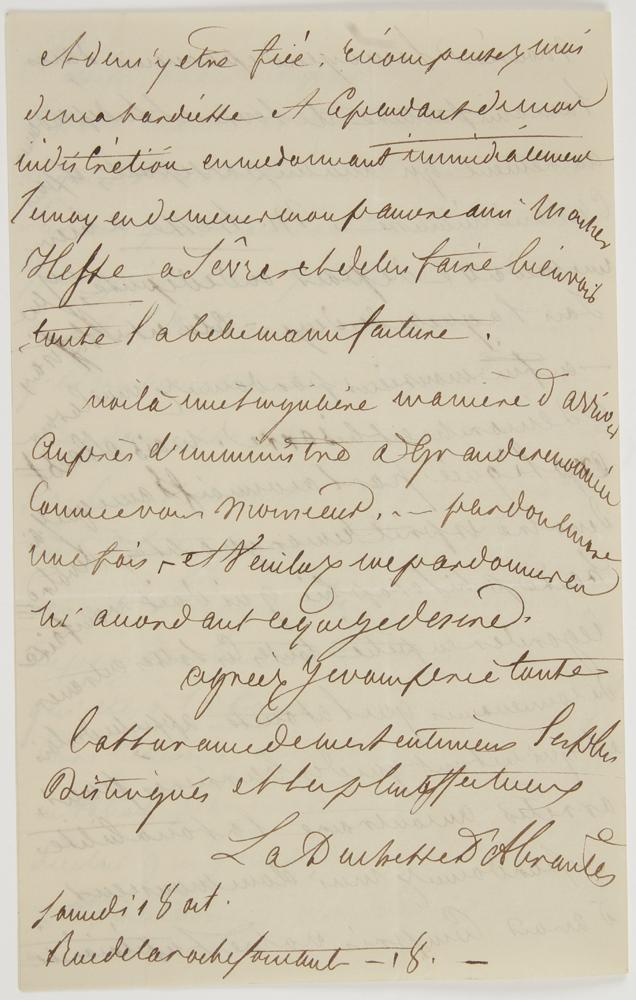 laure-permon-duchesse-dabrantes-1784-1838-memorialiste-veuve-du-general-junot-duc-dabrantes-1771-1813-elle-fut-la-maitresse-de-plusieurs-ecrivains-romantiques-l-a-s-paris-samedi-18-octobre-1834-4-pages-in-8-son--1