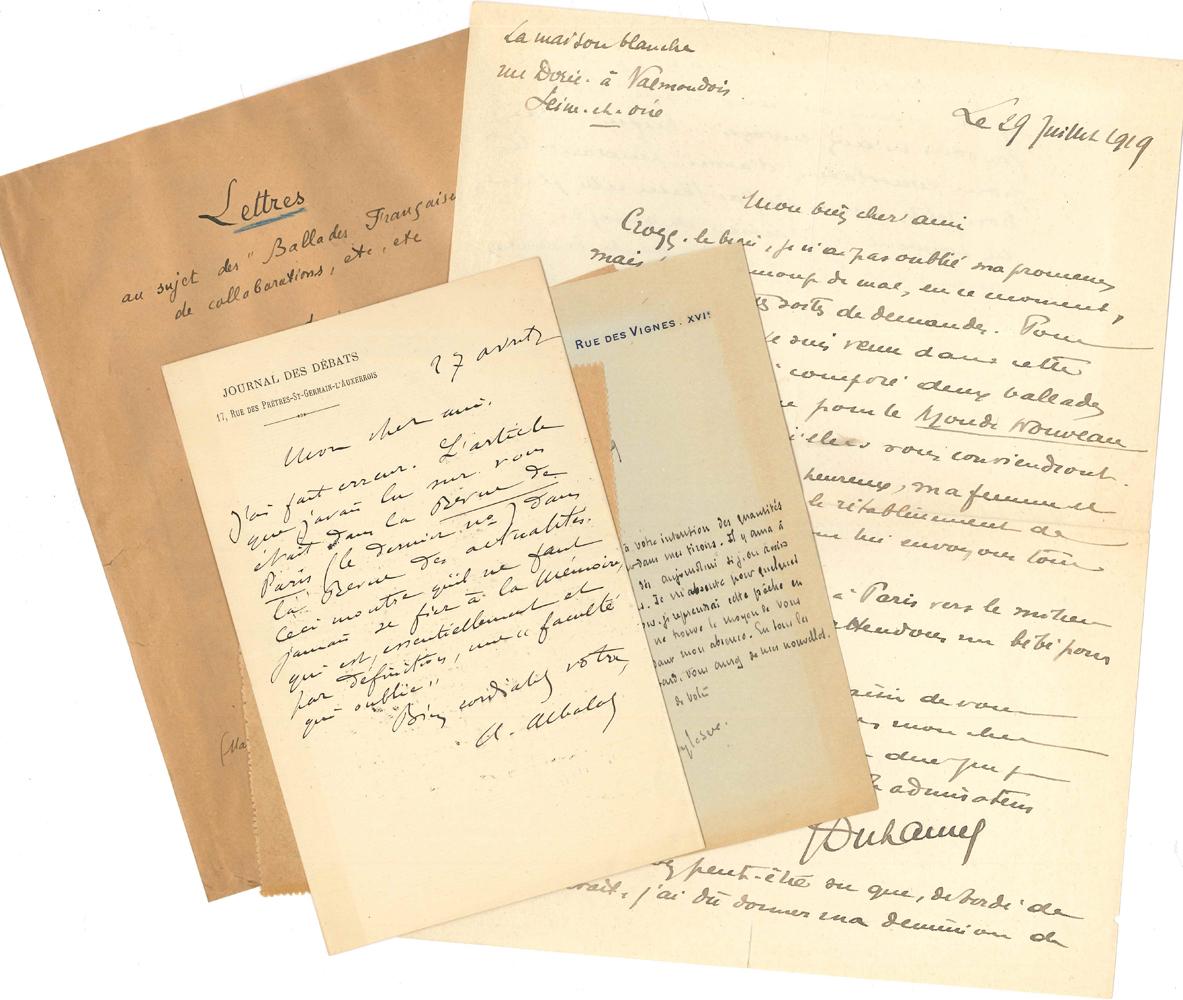 Paul Fort 34 L A S Et 2 Manuscrits Autographes