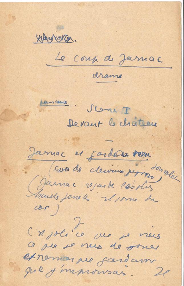 jean-anouilh-manuscrit-autographe-le-coup-de-jarnac-drame-vers-1930-7-pages-petit-in-4-avec-ratures-et-corrections-au-dos-de-musiques-imprimees-de-films-sketch-publicitaire-pour-le-gant-perrin-ce-sketch-a-valu-a-anouilh-une-prime--5