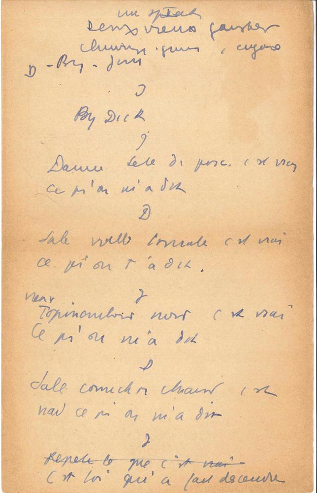 jean-anouilh-manuscrit-autographe-un-speech-vers-1930-9-pages-petit-in-4-avec-ratures-et-corrections-au-dos-de-musiques-imprimees-derniere-page-un-peu-effrangee-sketch-publicitaire-pour-la-peugeot-201-premiere-voiture-francaise--6