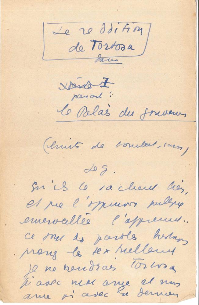 jean-anouilh-manuscrit-autographe-la-reddition-de-tortosa-vers-1930-7-pages-petit-in-4-avec-ratures-et-corrections-au-dos-de-musiques-imprimees-sketch-publicitaire-pour-le-caviste-nicolas-la-scene-se-passe-dans-le-palais-des--7