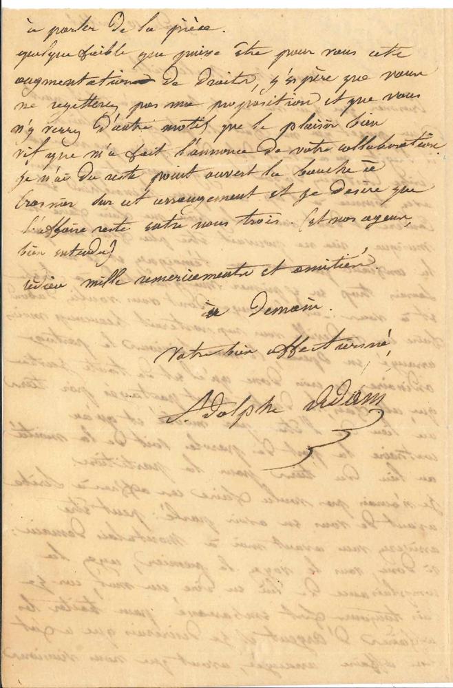 adolphe-adam-1803-1856-l-a-s-10-juillet-1834-a-son-librettiste-melesville-2-pages-in-8-a-propos-de-leur-collaboration-pour-le-chalet-livret-de-melesville-et-scribe-cree-a-lopera-comique-le-25-septembre-1834-crosnier--309