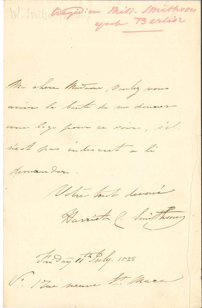 -hector-berlioz-harriet-smithson-1800-1854-actrice-anglaise-femme-de-berlioz-l-a-s-rue-neuve-saint-marc-11-juillet-1828-a-mlle-duc-hesnois-1-page-in-8-adresse-ma-chere-madame-voulez-vous-avoir-la-bonte-de-me-donner-une--314