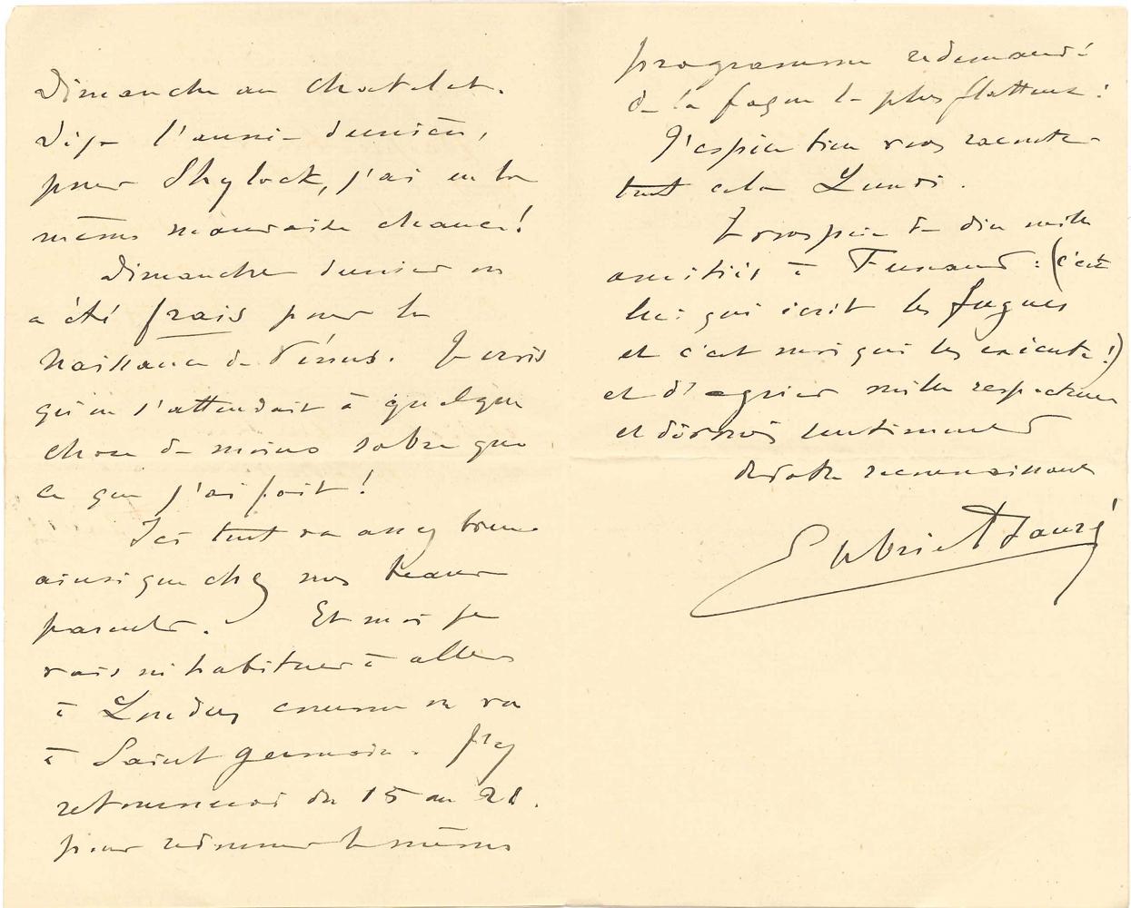 gabriel-faure-1845-1924-15-l-a-s-paris-vers-1889-1900-et-s-d-a-mme-georges-halphen-23-pages-in-8-ou-in-12-qqs-adresses-et-enveloppes-belle-correspondance-avec-la-mere-de-son-eleve-fernand-halphen-1872-1917-qui-travailla-sous--335