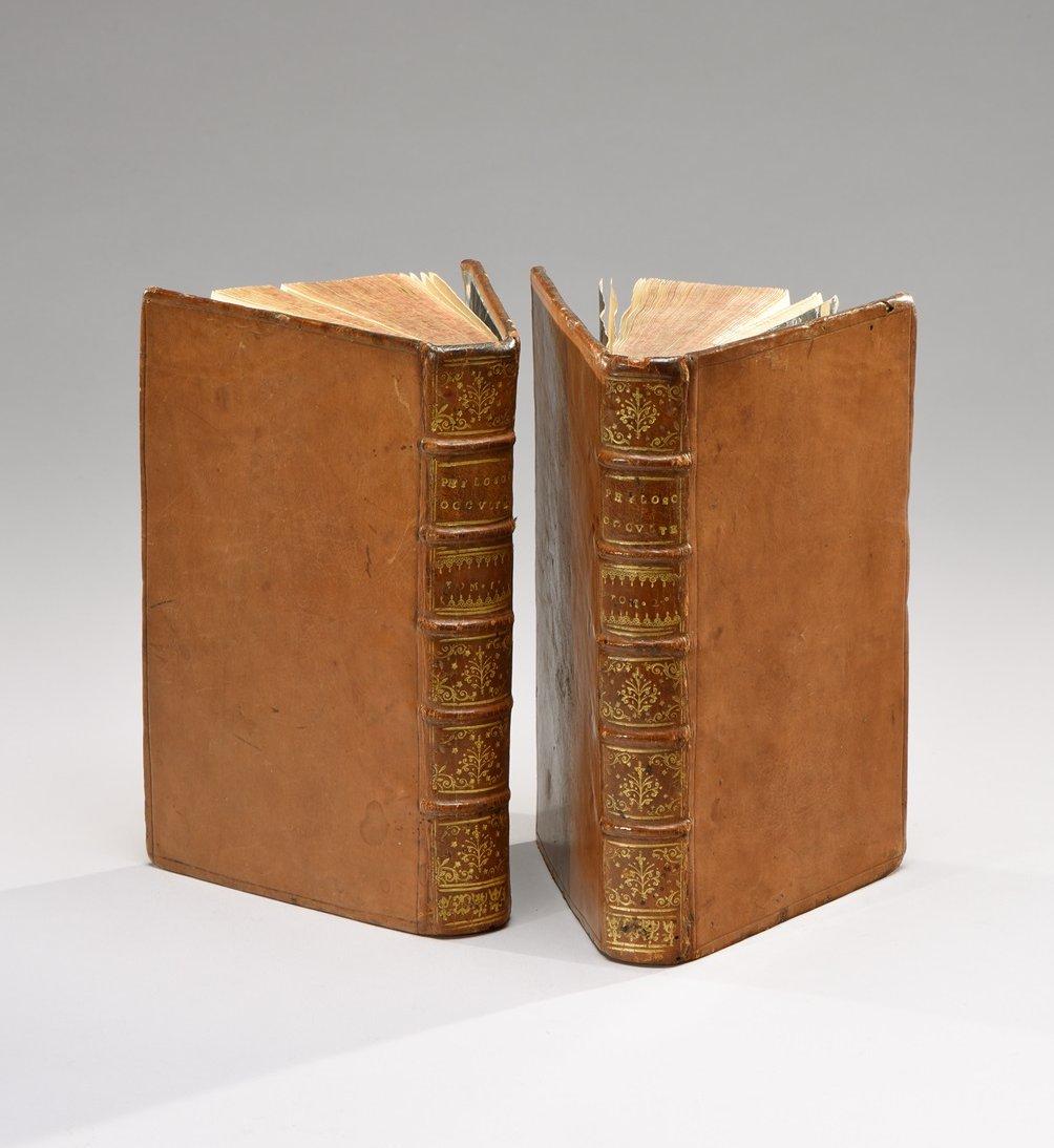 agrippa-henri-corneille-la-philosophie-occulte-divisee-en-trois-livres-et-traduite-du-latin-la-haye-alberts-1727-deux-volumes-petit-in-8-180-x-110-mm-pleines-reliures-de-lepoque-en-veau-havane-dos-a-5-nerfs-cloisonnes-et--224