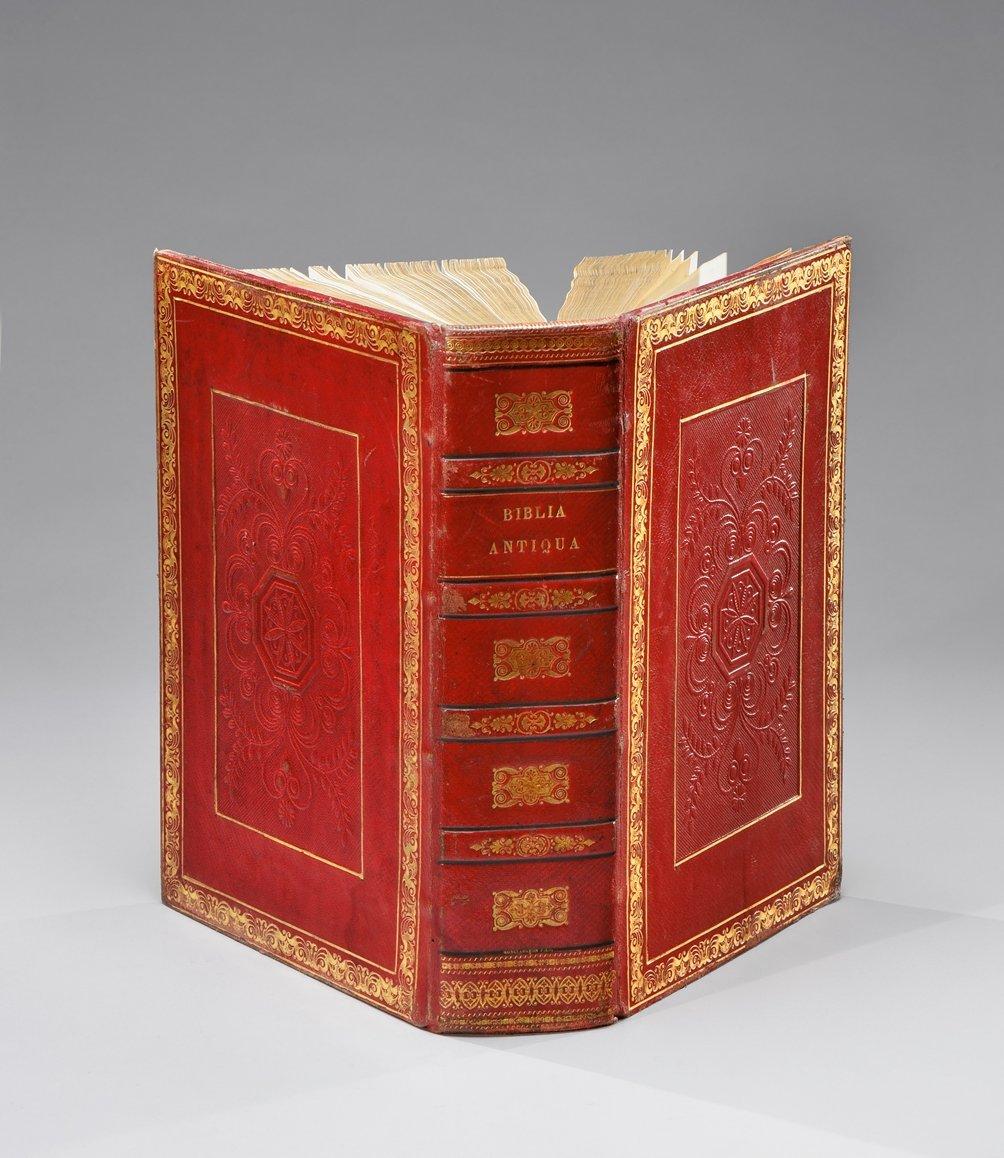 bible-incunable-biblia-latina-venise-leonardus-wild-pour-nicolas-de-franckfordia-juillet-1478-un-fort-volume-in-4-de-456-ff-pleine-reliure-du-xixe-siecle-en-basane-maroquinee-rouge-decoree-a-froid-gaufree-et-doree-dentelle--239