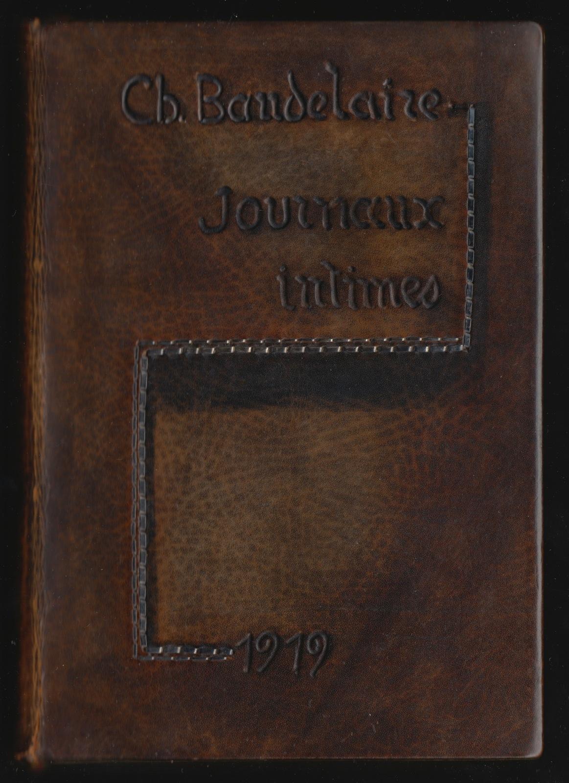 baudelaire-charles-journaux-intimes-paris-georges-cres-et-cie-1919-in-12-veau-a-decor-teinte-de-points-irreguliers-decor-d-agrafes-en-argent-souligne-d-une-ombre-peinte-titre-au-centre-a-froid-encadrement-interieur-forme-d-un--382_1