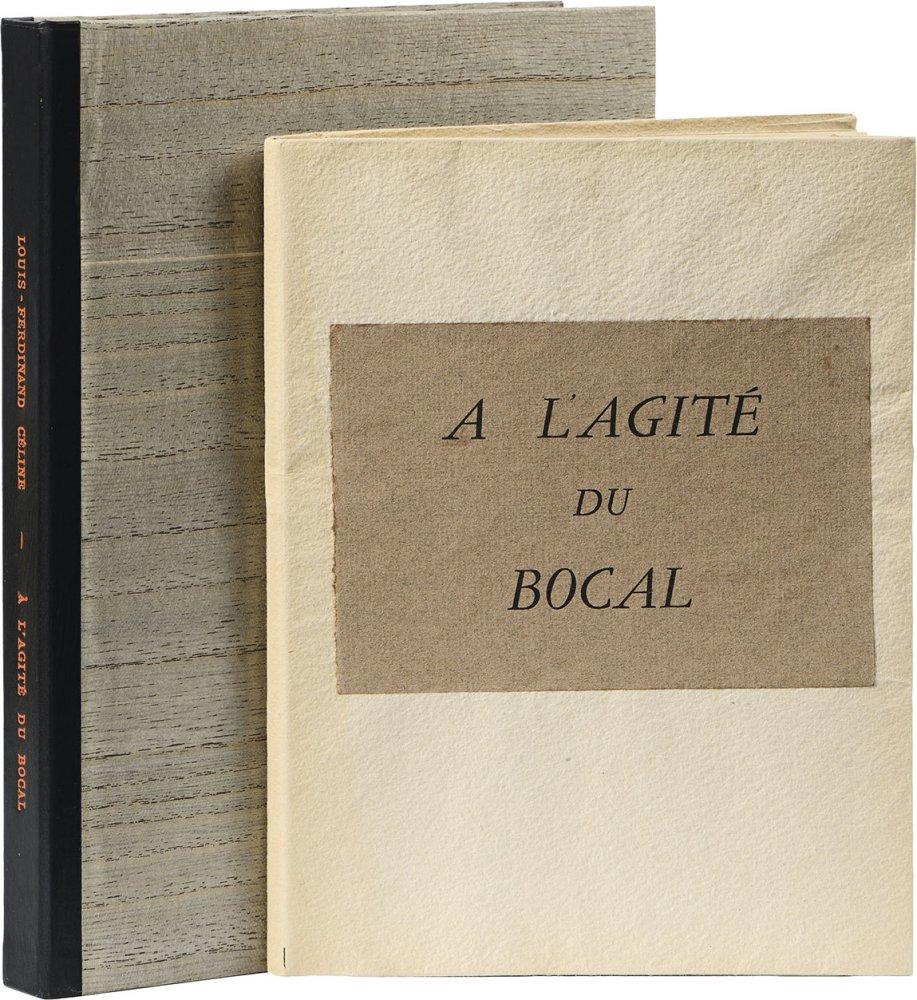 celine-l-f-a-lagite-du-bocal-paris-de-tartas-s-d-1948-gr-in-12-en-ff-sous-couverture-coffret-avec-plats-composes-de-3-pieces-de-bois-en-deux-tons-serties-et-superposees-nom-de-lauteur-et-titre-en-long-en-lettres-rouges--20