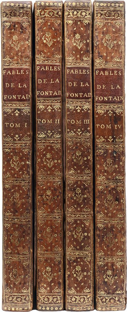 la-fontaine-jean-de-fables-choisies-mises-en-vers-par-j-de-la-fontaine-paris-desaint-et-saillant-durand-1755-1759-4-vol-in-folio-veau-fauve-glace-piece-de-titre-et-tomaison-sur-les-dos-ornes-et-dor-dent-int-dor-tranches-dor--83
