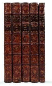 saint-non-jean-claude-richard-de-voyage-pittoresque-ou-description-des-royaumes-de-naples-et-de-sicile-paris-1781-786-4-tomes-en-5-volumes-in-folio-veau-porphyre-dos-a-nerfs-orne-reliure-de-l-epoque--538