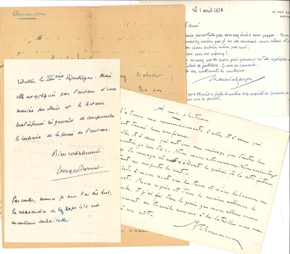 POLITIQUE 29 Pieces La Plupart LAS Ou Cartes De Visite As Adressees Au Journaliste Leon Treich Georges Bonnet Michel Clemenceau 7