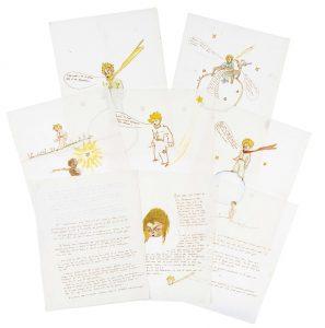 antoine-de-saint-exupery-1900-1944-correspondance-illustree-a-une-jeune-femme-manuscrit-autographe-signe-et-aquarelles-originales-avril-1943-mai-1944-11-p-sur-11-f-in-4-28-x-21-6-cm-de-papier-pelure-americain-esleeck-fidelity--121