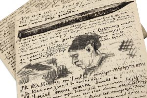 van-gogh-vincent-1853-1890-l-a-s-illustree-de-dessins-originaux-a-anthon-van-rappard-la-hague-5-mars-1883-8-pages-in-8-20-7-x-13-3-cm--717-2