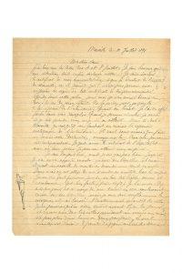 rimbaud-arthur-lettre-autographe-a-sa-soeur-isabelle-signee-datee-marseille-le-10-juillet-1891-3-pages-in-4-enveloppe-timbree-jointe-comportant-en-marge-trois-dessins-originaux-de-rimbaud-a-la-plume-enveloppe-timbree-jointe-avec--241
